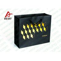 Golden Hot Stamping Wedding Paper Gift Bags With Ribbon Handles Manufactures