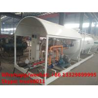 Buy cheap 2017S customized 8m3 4tons mobile skid lpg tank for sale,cheapest price skid lpg tank plant with single digital scale from wholesalers