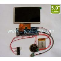 Hot sale 5 inch tft lcd Video greeting card module for DIY advertising video brochure/video book/video business gifts Manufactures