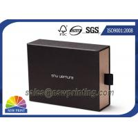 Soft Touch Cardboard Paper Box Drawer Shaped Paper Cuff Box Packaging OEM Manufactures