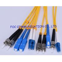 China G.652D SM Fiber Optic Patch Cord With OFNP Cable SC FC ST LC wholesale