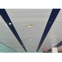 China Artistic Eco-friendly Indoor Decoration Aluminum Suspended Strip Ceiling Panel Beveled Edge wholesale