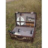 China wicker picnic basket with lid and fabric lining wholesale
