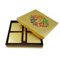 China Gold Foil Shinny Paper Cardboard Box CMYK Color Logo Printing Cake Food Packaging Lid & Bottom Box Shape on sale