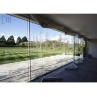 China Air Proof Aluminium Folding Doors Anodized Silver Frameless Glass Bi Fold Doors wholesale