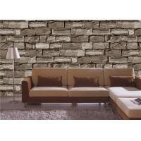 Gravel PVC 3D Home Wallpaper for bedroom / house walls , Soundproof Manufactures