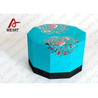 Blue Lid & Black Base Cardboard Food Packaging Boxes , Decorative Cardboard Boxes With Lids Manufactures