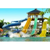 Customized Adults Water Park Slides , 6 m Height Aqua Park Equipment Manufactures