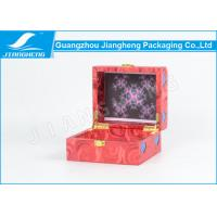 Little Red Wood / Leather Material Perfume Gift Packaging Boxes With Lock Manufactures