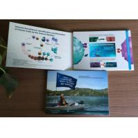 China 4.3inch tft screen corporate  video brochure card with CMYK Printing  soft cover  video greeting  card on sale
