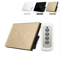 China Smart Home Touch switch Crystal Glass Panel Us/Au Light Switch 2 Gang 1 Way Wall Smart Switch on sale
