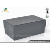 China Cheap Customized Black Cardboard Gift Boxes For Shoes / Clothes on sale