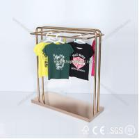 China 2014 new design custom metal wall garment display rack for clothing retail store on sale