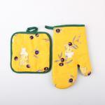 China Polyester Cotton Pot Holder Kitchen Gloves / Kitchen Oven Mitts / Heat Resistant for Kitchen Usage wholesale