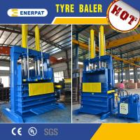 China Hydraulic scrap tire baler machine/used tire baler for sale with CE on sale
