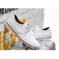 China Fashion Cowhide Leather Lace Up Shoes , Comfortable Business Casual Shoes Men wholesale