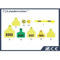 Yellow Rfid Animal Id Flag Ear Identification Tag Applicator For Tagging Cattle , Pig , Sheep Manufactures