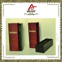 Luxury Black Cardboard Paper Wine Top And Bottom Rigid Gift Boxes Without Handle Manufactures