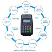 Buy cheap Movotek EVD (Electronic Voucher Distribution System) with GPRS Printer (Handheld POS) from wholesalers