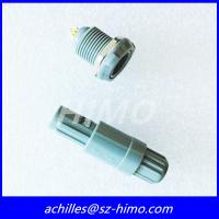 best supplier double key 1P series male and female 2pin Lemo plastic push pull connector with red color Manufactures