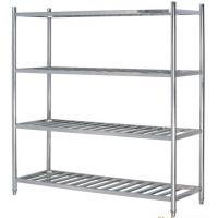 China Stainless Steel 4-Layer Round Tube Shelves Kitchen Storage Rack 1200*500mm 1500*500mm on sale