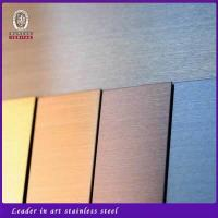 China Hairline finish stainless steel sheets on sale