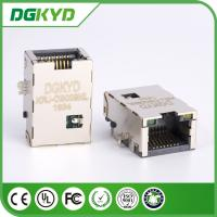 Plate RJ45 PCB Connector , Network Port RJ45 Vertical with Plating Manufactures
