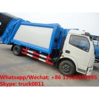 Buy cheap factory sale best price Dongfeng 4*2 LHD 6-7m3 compacted garbage truck, refuse garbage truck for The Kyrgyz Republic from wholesalers