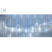 Innovative Design Aluminum Curtain Wall , Visible Unitized Glass Curtain Wall Manufactures