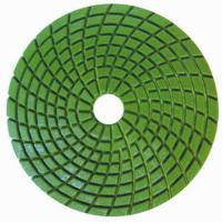 China Concrete Wet Polishing Pads / 4inch Diamond Grinding Pads Circle Type  on sale