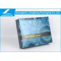 Silk Ribbon Linked Glossy Lamination Cardboard Packing Boxes With Inner Tray Manufactures