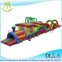 Hansel inflatable bouncer obstacle course playground for kids Manufactures