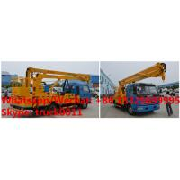 China factory sale 2018s 14m-16m fold arm type High altitude working platform Aerial truck crane truck with working bucket wholesale