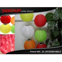 China Seksun 0.2W Colorful Solar Nylon Lanterns Outdoor With 600MAH Ni-MH Battery on sale