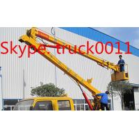 Hot sale CLW brand Overhead working truck for maintenaining Street lights, CLW brand 12m-24m hydraulic bucket truck Manufactures