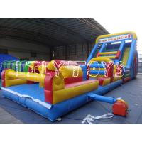 China exciting plato pvc Inflatable bouncer Obstacle Course / Inflatable soprt game wholesale