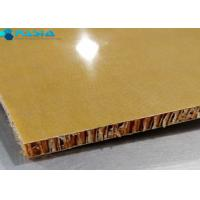 China Phenolic Resin Aramid Honeycomb Panels For Yacht Wall / Ceiling 40g/M2 Weight on sale