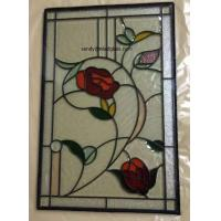 China Beveled Stained Glass  Panel with patina caming  for wooden door and windows 36*22 on sale
