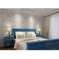 Indoor Removable Dining Room Wallpaper , Rustic Style Floral Wallpaper OEM Accepted Manufactures