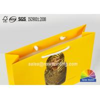 Cotton Handle Paper Shopping Bags CMYK Full Colors Design Printing Custom Made Manufactures