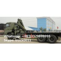China DongFeng 6*4 folding boom mounted truck folding boom truck crane, factory sale dongfeng 210hp 12tons truck with crane on sale