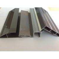 Gray fridge U Shape PVC Extrusion Profiles , Co-extruded window profiles Manufactures