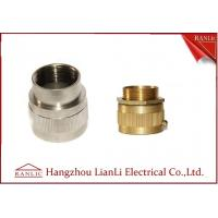 China Brass Male / Female Flexible Conduit Adaptor with Nickle Plated 20mm 25mm on sale