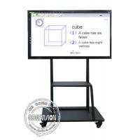 Mobile Stand Electronic IR Interactive Whiteboard 4K Touch Screen Android and Windows Systems Manufactures