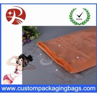China Waterproof Transparent Pvc Hook Bag For T - Shirt Packing , Eco Friendly wholesale