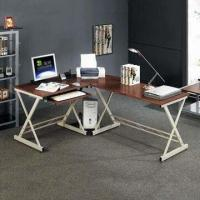 Glass Corner Desk with Pull-out Keyboard Shelf, Suitable for Home and Office Decorations Manufactures