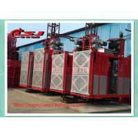 Competitive prices 34m speed twin cage 2000kg capacity rack and pinion elevator Manufactures