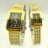 Couple lover Yellow Color Metal Quartz Valentines Day Gift Watch Custom Logo Manufactures