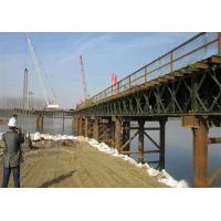 China Rapid - Build GB450 Steel Frame Bridge , Deck Truss Bridge With Interchangeable Components wholesale
