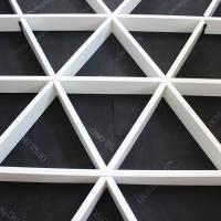 China Roller Coating Indoor Aluminum Triangle Grid Metal Ceiling Panel For Shopping Hall wholesale